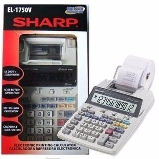 Calculadora De Mesa Sharp El-1750v C/ Bobina
