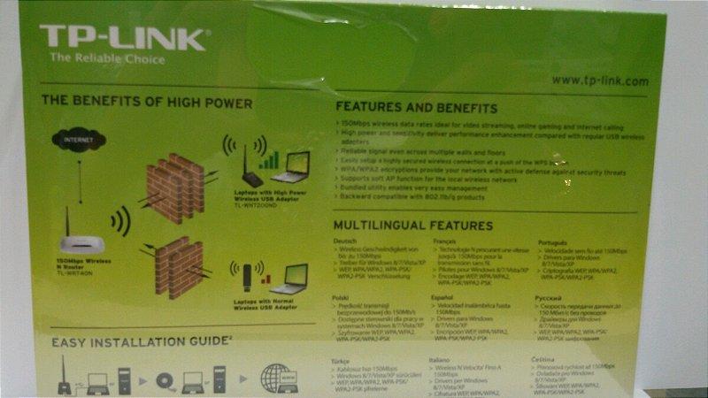 High Power Wireless Usb Adpter 150 Mps Tplink