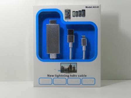 Cabo Espelhamento Hdmi Para iPhone 5, 5S, 6, 6 Plus E 6S