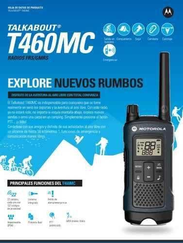 Radio Motorola Talkabout T460 Até 56km Walk Talk T-460 35MIL 56KM