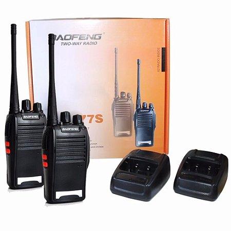Kit 2 Radios Ht Comunicador Uhf 16 Canais Baofeng. Completo