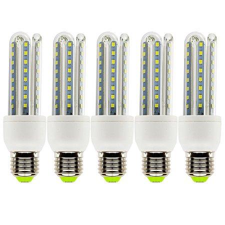 Lâmpadas De Led 9w E27 6500k Super Econômica Kit Com 5 Lampadas