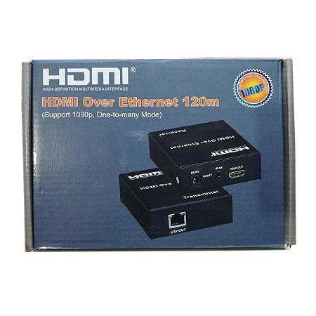 Extensor Hdmi 120 metros Cat5 Cat6 Tx Rx  TCP/IP
