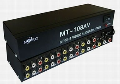 Distribuidor De Video Splitter Audio E Vídeo 1 X8