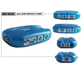 Chav Kvm Ps2 Vga 2 Portas Plast C/cabos