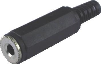 Plug P2 Fêmea 3,5mm Para Cabo Estéreo