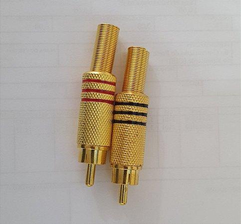 Plug RCA gold 6mm Pt e Vm o Par - Tblack