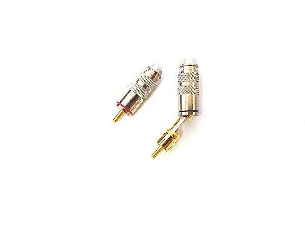 Conector RCA profissional  blindado banhado a ouro o par