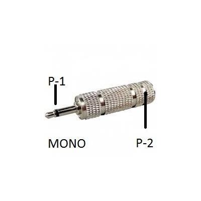 Adaptador P1 Mono Para P2 Femea Estereo