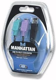 Conversor Usb Para 2 Portas Ps2 - Manhattan