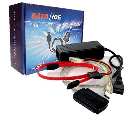 Adaptador Usb 2.0 Para Ide, Sata, Mini Ide - Liga O HD Na Porta Usb
