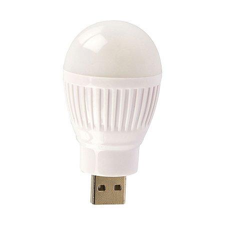 Mini Lampada Usb De Led Cor Branca