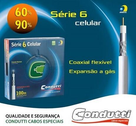 Cabo Rg6 Malha 90 Rolo Com 100 Metros Anatel  Antena