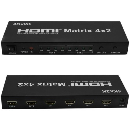 Switch matrix HDMI 4x2 1.4b