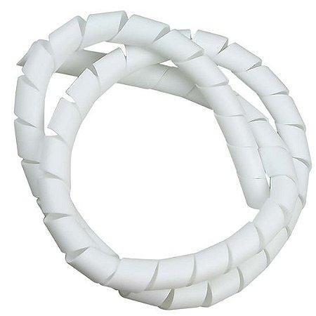 Organizador de cabos 12,7mm branco 3 metros