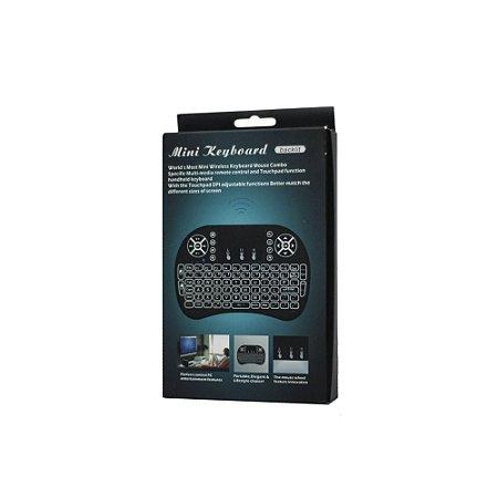 Mini Teclado Bluetooth Wifi Wireless Sem Fio Touchpad Preto