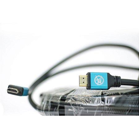 Cabo HDMI Versão 2.0, 19 Pinos, 4K, Ultra HD, 3D - 7 metros