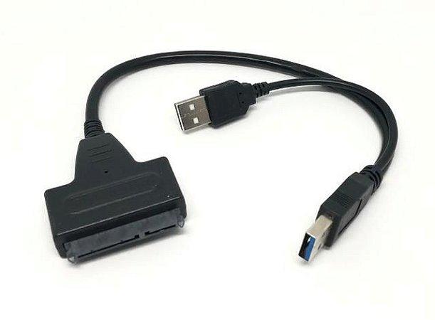 Cabo Adaptador  USB 3.0 para Sata 2.5 e 3.5 Ativo