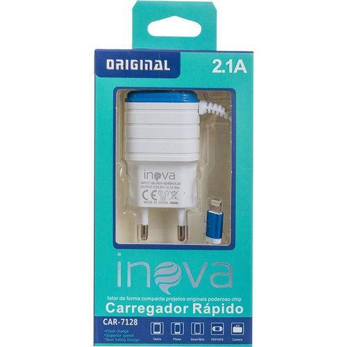 Carregador Rápido 2.1 Inova para iPhone Car7128
