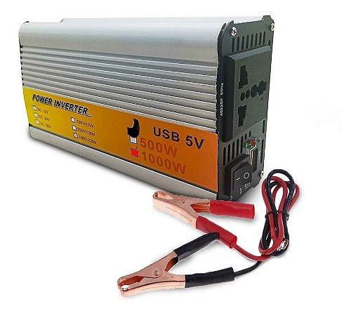 Inversor de energia de 12v para 110v 500W