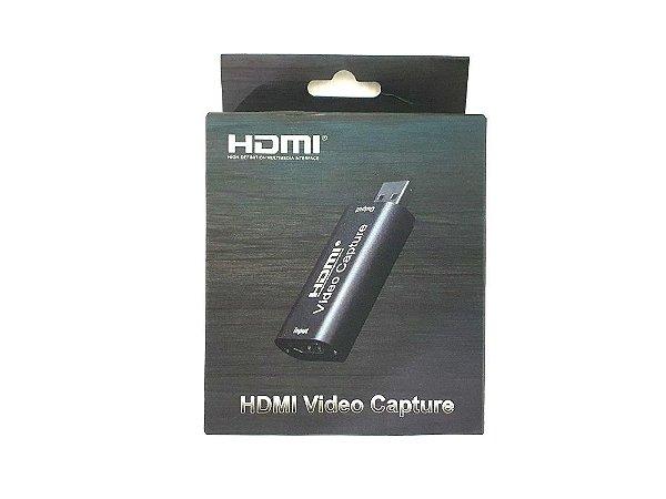 Placa de captura Black metálico Hdmi full hd 1920x1080p usb 2.0