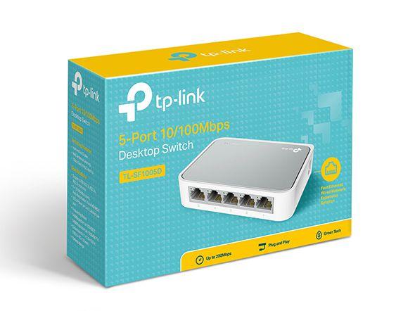 Switch de mesa de 5 Portas 10/100Mbps-Tp-link