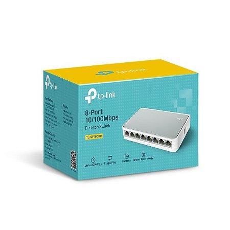 Switch de mesa de 8 portas 10/100Mbps-Tp-Link