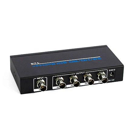 Splitter SDI 1 entrada 4 saídas ultra HD Ativo  Profissional