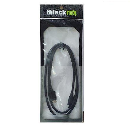 Cabo USB Type-C 3.1 Blindado para mesa Atem Macho x Macho 1 metros