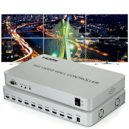 Vídeo Wall 3x3 Premium  Hdmi  Full HD JCINFRA