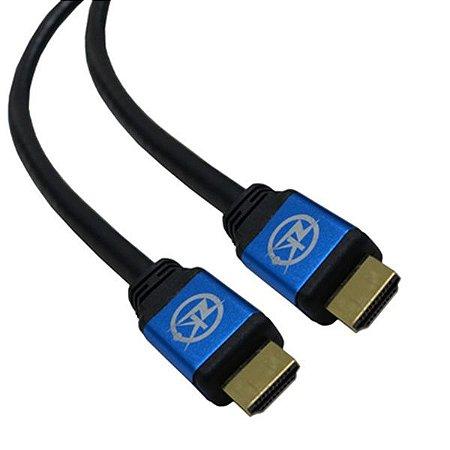 Cabo HDMI Versão 2.0 19 Pinos 4K  Ultra HD 3D - 2 metros