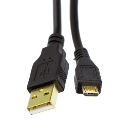 Cabo Micro USB 2.0 V8  Blindado com 5 Metros