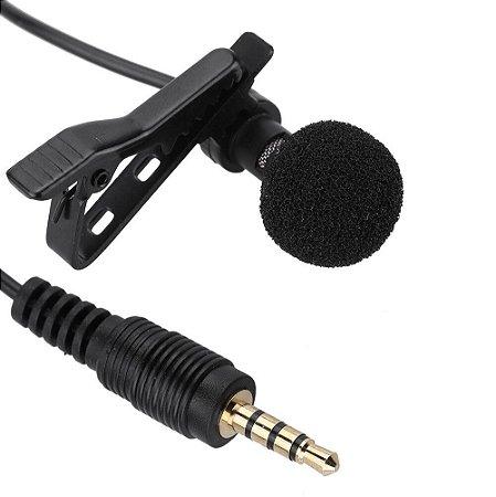Mini Microfone portátil Lapela - p3 1,5 metros de fio - Lavalier