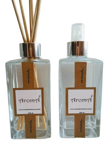 Kit Vetiver ( Spray de 250 ml + Varetas 250 ml)