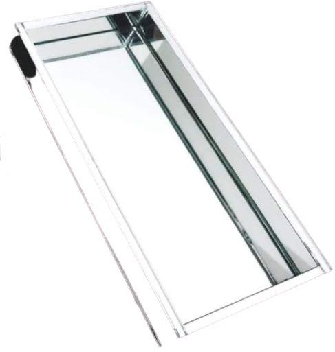 Bandeja Espelhada Prata 20 cm x 10 cm