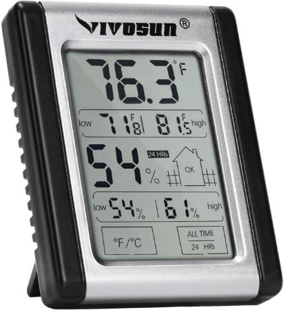 TermoHigrômetro Digital Touch Screen VIVOSUN