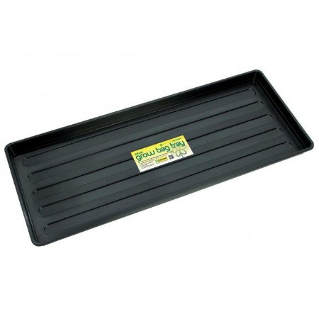 Bandeja de Deságue Plástico Preto VALUE GROWBAG  - Retangular 100x40x4cm
