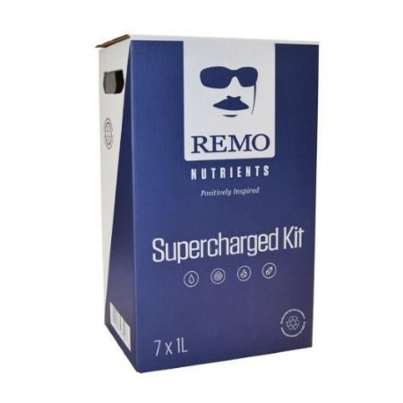 Supercharger Kit by Remo Nutrients opção Mini 7 x 250ml, Master 7 x 1L,  PRO 7 x 4L e PRO XL 10L