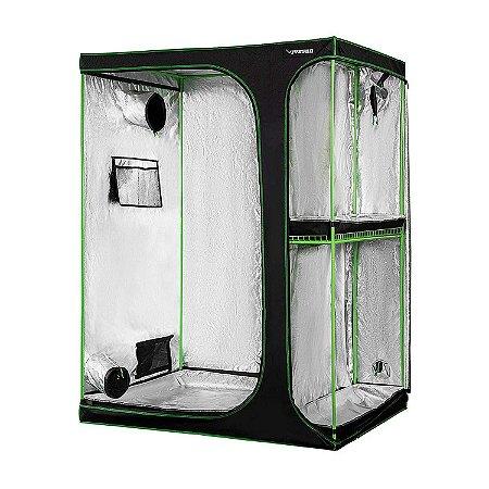 Estufa Agrícola Cultivo Indoor 2-em-1 VIVOSUN 150x120x200cm com Revestimento 600D e Mylar DIAMOND 98% de Reflexão