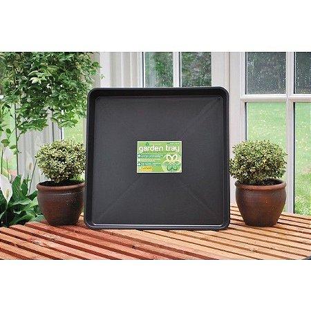 Bandeja de Deságue Plástico Preto - Quadrada 60x60X7cm