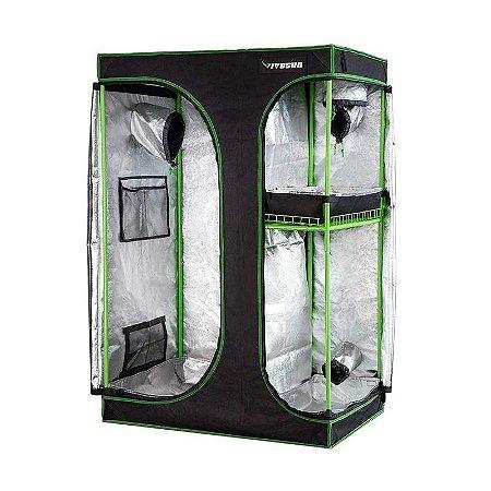 Estufa MULTICÂMARA 3-em-1 VIVOSUN 90x60x135cm com Revestimento 600D e Mylar DIAMOND 98% de Reflexão