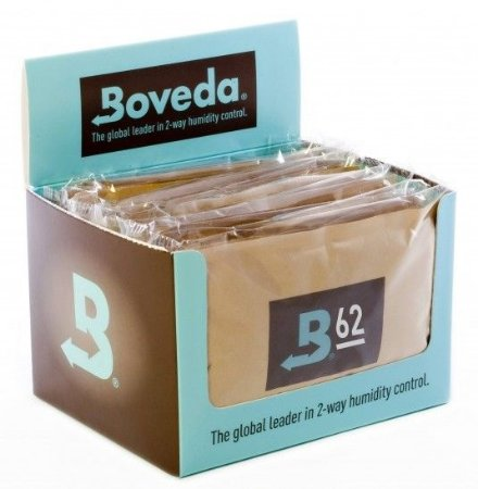 BOVEDA 62% - Sachê Umidificador 2-Way para Cura e Armazenagem Perfeita