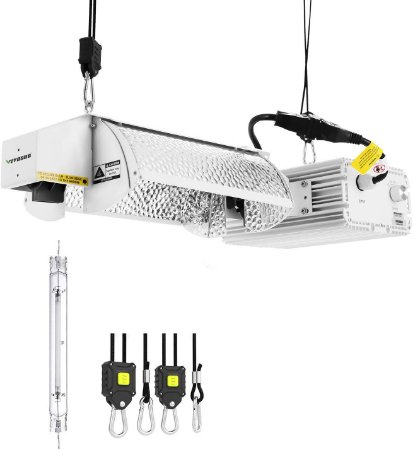 Sistema Iluminação DE 98% ULTRAHIGH REFLECTIVITY VIVOSUN  1000w - Dimerizável de 600 a 1150W com Lâmpada DE Super HPS (AGRO) - BIVOLT 110/220V