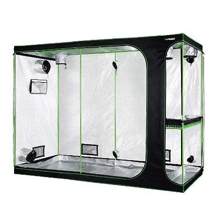 Estufa Agrícola Cultivo Indoor 2-em-1 VIVOSUN 275x120x200cm com Revestimento 600D e Mylar DIAMOND 98% de Reflexão
