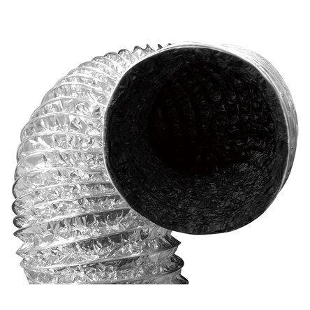 """Duto de Ar Flexivel Aluminizado com Interior Negro Anti-Reflexivo opção de 4"""", 5"""" e 6"""""""