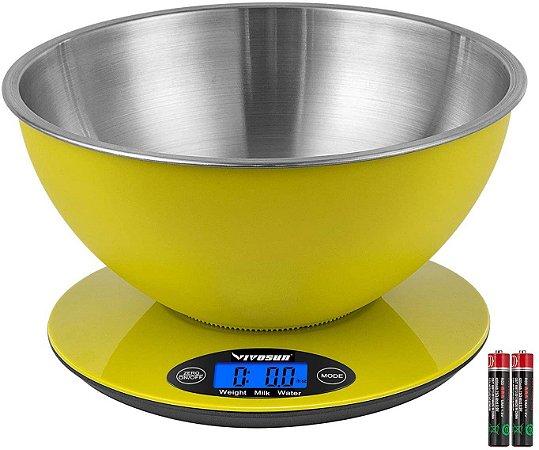 Balança Digital VIVOSUN com Bowl de Inox Grande Escala de 2 a 5000g