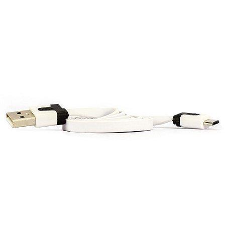 CABO FLAT USB MACHO PARA MICRO USB MACHO