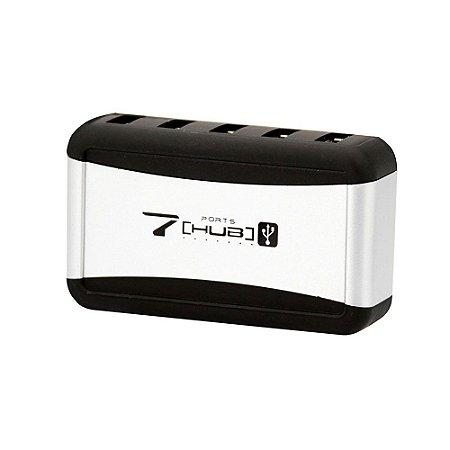 HUB 7 PORTAS USB 2.0 - COM FONTE DE ENERGIA