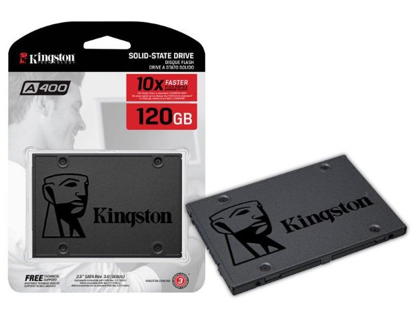 HD SSD 120 GB SATA 3 KINGSTON A400 - 500 MB/S