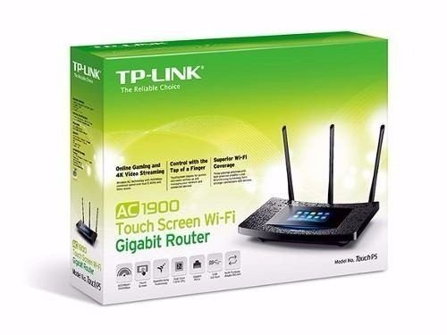 ROTEADOR TP-LINK WI-FI GIGABIT P5 TOUCH SCREEN AC1900 TOP P5